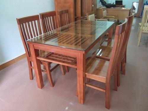 Kết quả hình ảnh cho Bàn ăn 6 ghế gỗ xoan đào